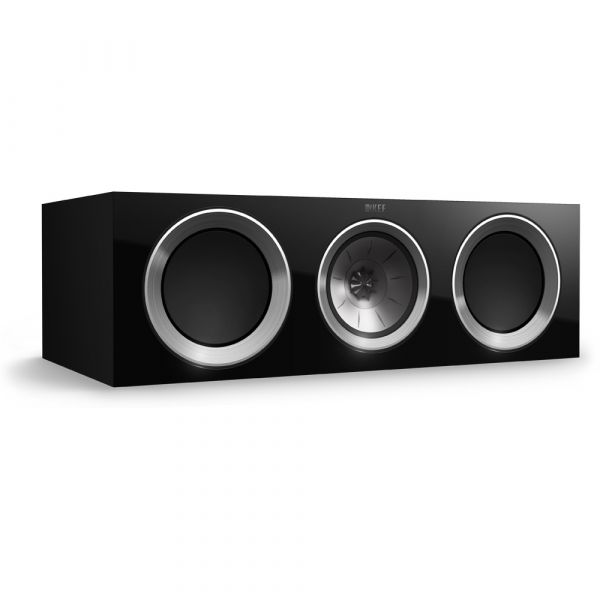 KEF R200c Center Channel Speaker Gloss Black finish