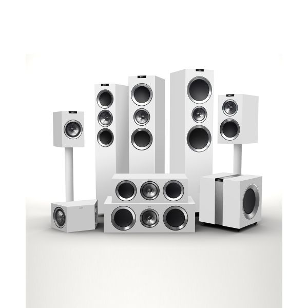 KEF R Series Entire Family of Home Theater Speakers (High Gloss White)