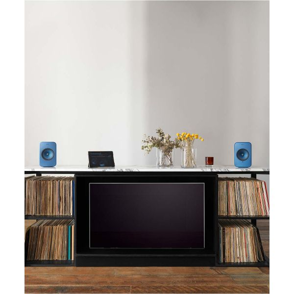 KEF LSX Wireless HiFi music system, great for streaming music or playing vinyl records.