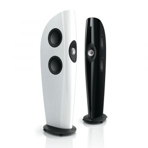KEF Blade in Gloss White and Gloss Black finish