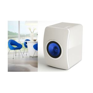KEF LS50 Gloss White / Electric Blue suggestion