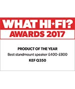 KEF Q350 Bookshelf Speaker Product of the year What Hi*Fi