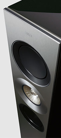 KEF Reference series speakers composite front baffle.