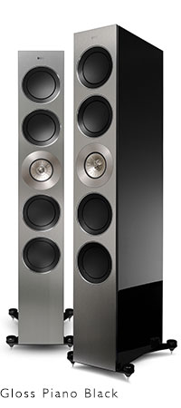 KEF REFERENCE Series speakers in High Gloss Black.