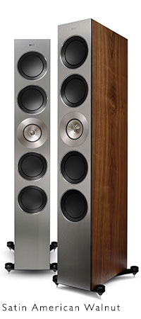 KEF REFERENCE Series speakers in Walnut.