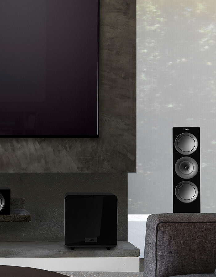 KEF R Series can be paired with any KEF Subwoofer