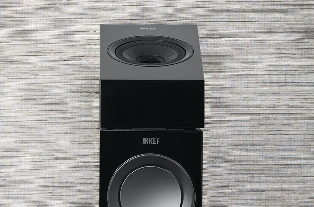 KEF R8a sits on top of your existing speakers