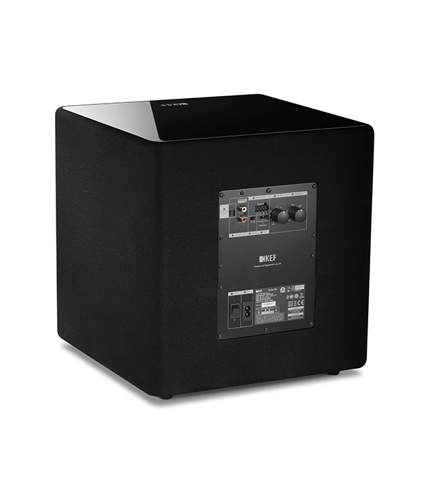 Easily connect the KUBE Subwoofer to any system and configure for your room using KEF's simple dsp options.