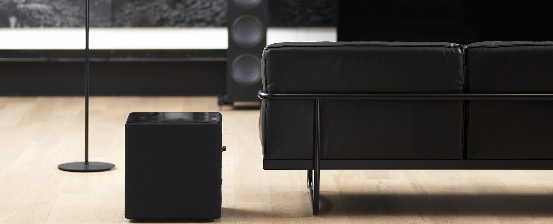 KEF KUBE Subwoofers provide deep rich bass and are the best home theater subwoofers.
